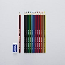Staedtler Noris Colour Pencils Set of 12 with Eraser and Graphite Pencil