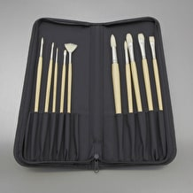 Cass Art Oil & Acrylic Brush Collection Set of 10