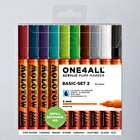 Molotow ONE4ALL Acrylic Pump Marker Basic Set 2 Round Nib 2mm Set of 10
