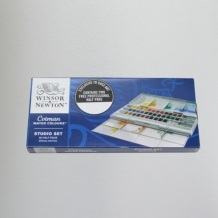 Winsor & Newton Cotman (Including 2 Artist's quality) Watercolour Studio set of 36 Half Pan