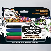 Sharpie Stained Fabric Marker Assorted Colours Set of 4