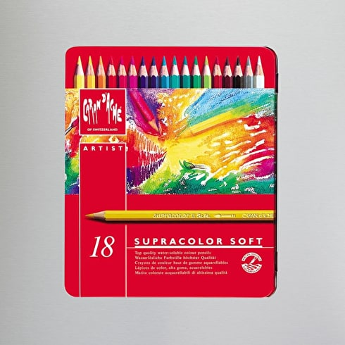Caran D'ache Supracolor Soft Water Soluble Pencils Pack of 18