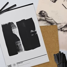 Life Drawing Set with Board, Paper & Charcoal
