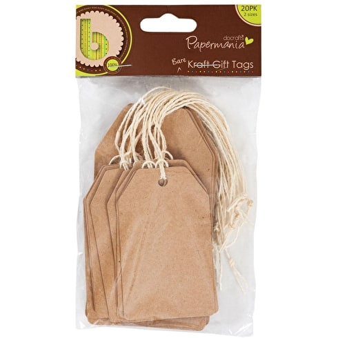 Papermania Kraft Tag Pack of 20