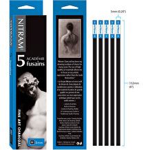 Nitram Charcoal 5mm Pack of 5