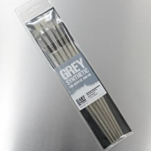 Cass Art Grey Synthetic Brushes for Acrylic and Oil Set of 6