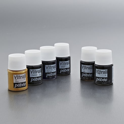 Pebeo Vitrail Glass Paint Discovery Pack of 6 20ml