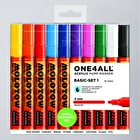 Molotow ONE4ALL Acrylic Pump Marker Basic Set 1 Round Nib 4mm Set of 10
