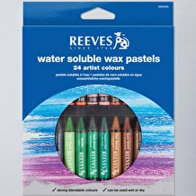 Reeves Oasis Water Soluble Wax Pastels Set of 24 Assorted Colours