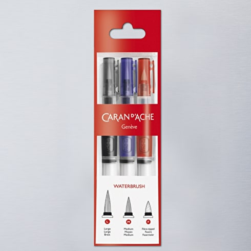 Caran D'ache Water Brushes Set of 3 | Watercolour Brushes | Cass Art