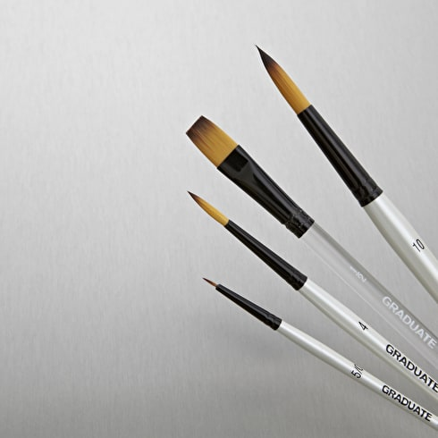 Daler Rowney Graduate Synthetic Watercolour Brush set of 4 | Brushes | Cass Art