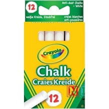 Crayola Anti Dust Chalk Pack of 12 White