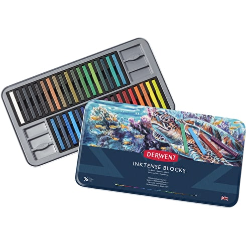 Derwent Inktense Blocks Tin Set of 36