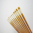 Daler Rowney Simply Gold Taklon Long Handle Brush Set of 10