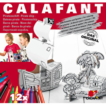 Calafant Cardboard Pirate Ship Making Kit