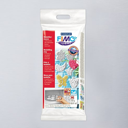 Staedtler Fimo Air Light Clay Block 250g White | Air Dry Modelling Clay | Cass Art