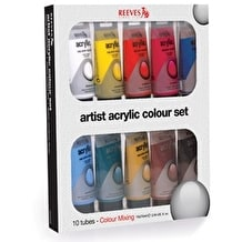 Reeves Oasis Acrylic Tube Set of 10 75ml Assorted Colours