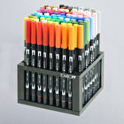 Tombow 96-Piece Dual Brush Marker Set with Desk Stand