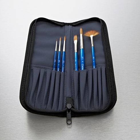 Winsor & Newton Cotman Brush Wallet Cass Exclusive Set of 6