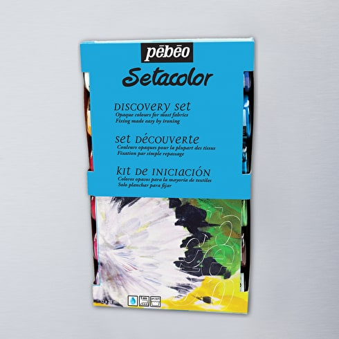 Pebeo Setacolour Opaque Discovery 20ml Assorted Colours Set of 12