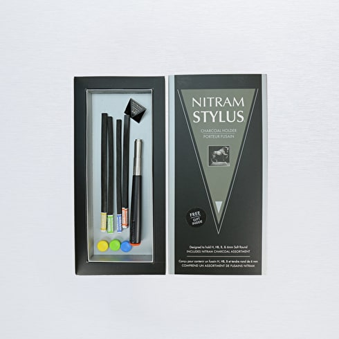 Nitram Stylus Charcoal Holder & Buttons Pack of 4
