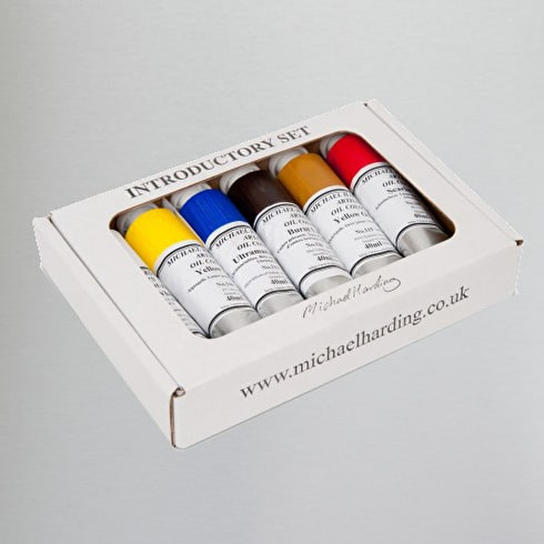 Michael Harding Oil Paint Starter Set of 6 | Professional Oil Paint | Cass Art