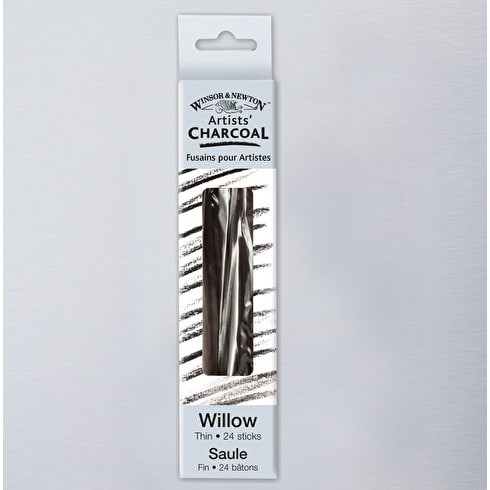 Winsor & Newton Willow Charcoal Thin Sticks Set of 24