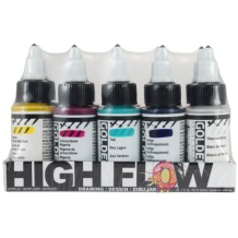 Golden High Flow Drawing 30ml Assorted Colours Set of 10