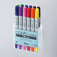 Copic Ciao Basic Assorted Colours Set of 12