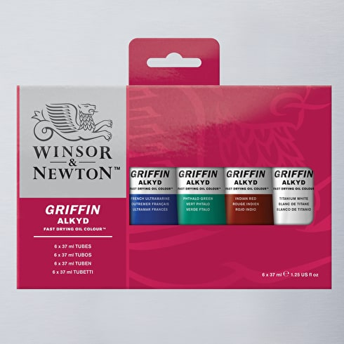 Winsor & Newton Griffin Alkyd Fast Drying Oil 37ml Set of 6