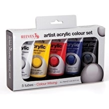 Reeves Oasis Acrylic Tube Set of 5 75ml Assorted Colours