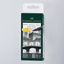 Faber-Castell Pitt Artists' Brush Pen Wallet Set of 6 Grey