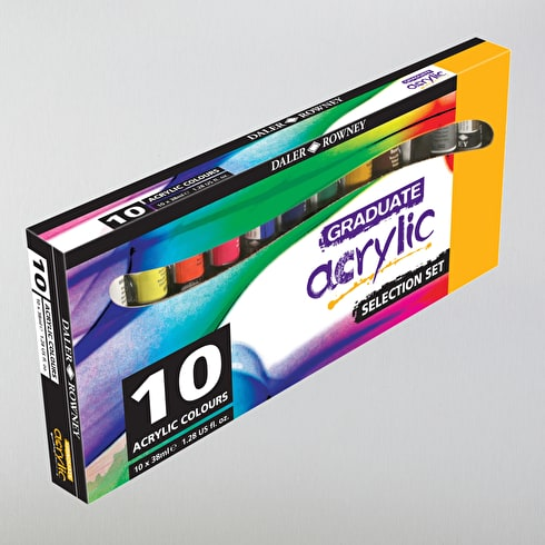 Daler Rowney Graduate Acrylic Introduction 38ml Set of 10