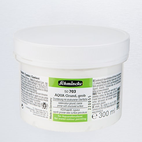 Schmincke Hilfsmittel AQUA Coarse Primer 250ml | Watercolour Primer | Cass Art