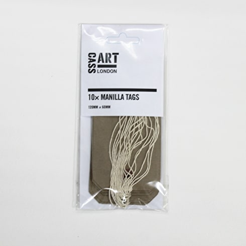 Manilla Luggage Tags Pack of 10 | Paper & Card Making | UK's Finest Art Supplies | Cass Art
