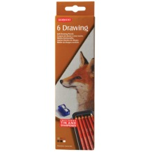 Derwent Drawing Pencil Tin Set of 6 Assorted Colours