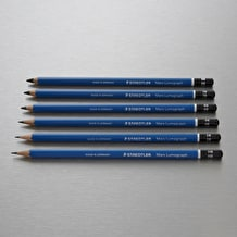 Staedtler Mars Lumograph Pencil Tin Set of 6