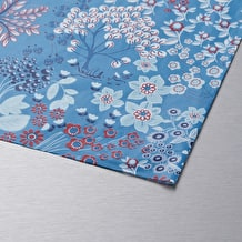 Decopatch Paper Blue Background with flowers 30 x 40cm