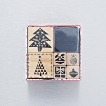 Rico Designs Christmas Tree Stamp Set of 6