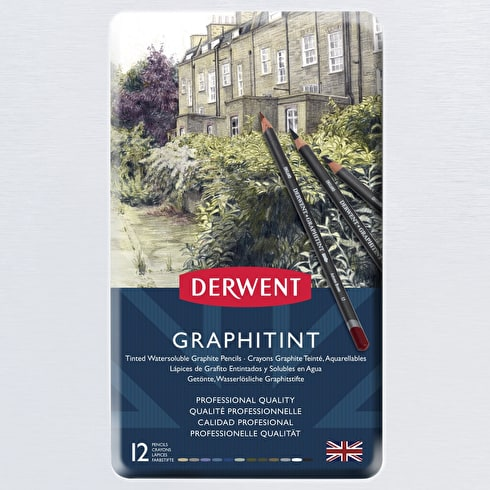 Derwent Graphitint Pencil Tin Set of 12