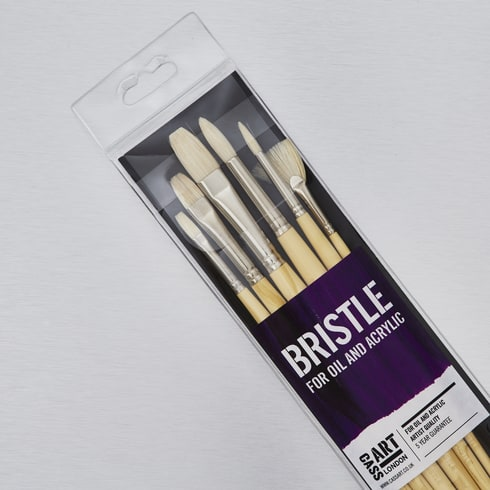 Cass Art Hog Set of 6 | Artist Paint Brushes