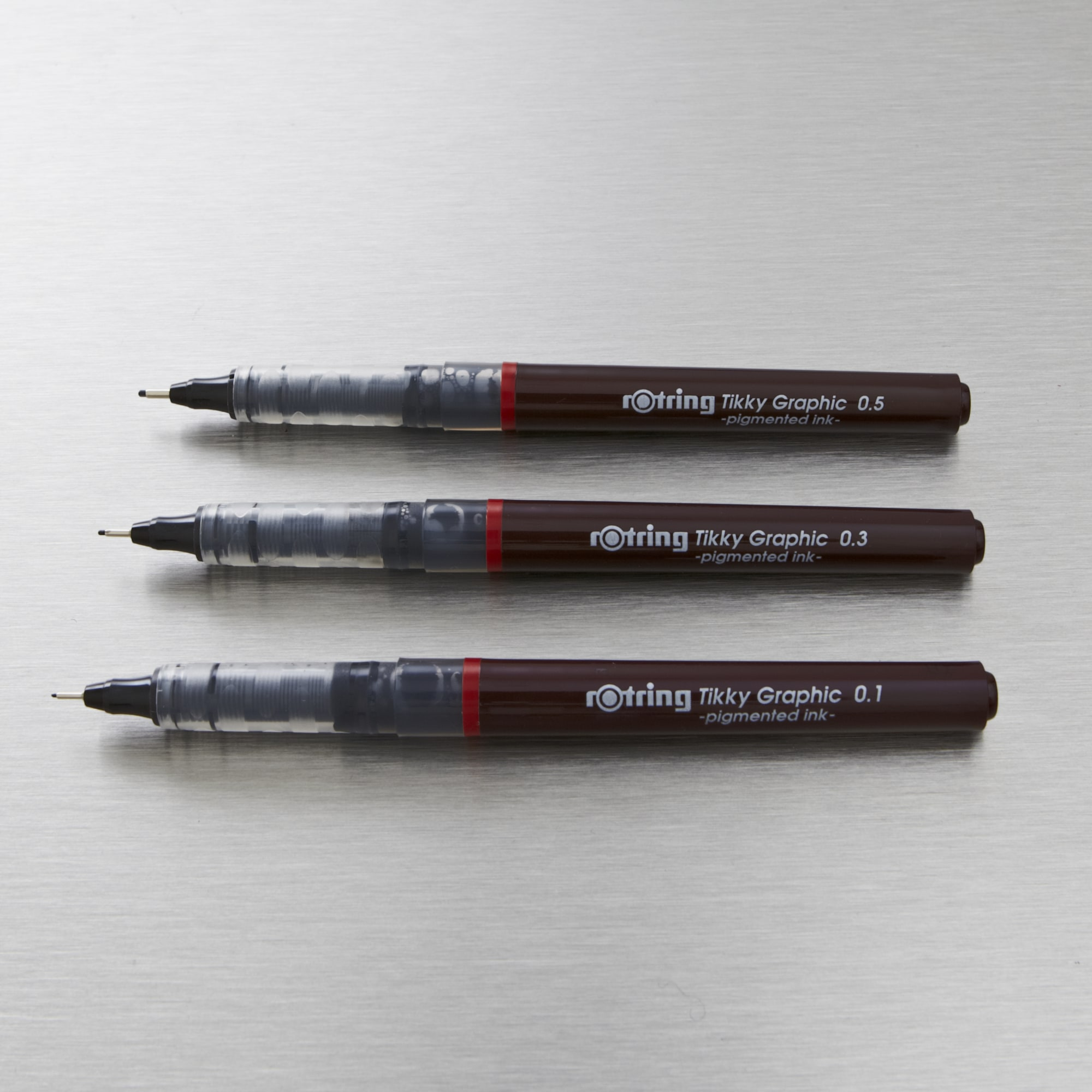 Rotring Tikky Graphic 0 1 To 0 5mm Set Of 3 Black