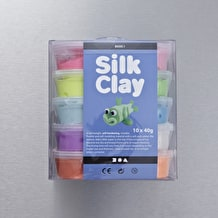 Creativ Silk Clay Assorted Colours 40g Set of 10
