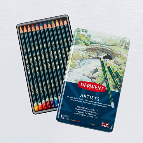 Derwent Artists' Pencils Tin Set of 12