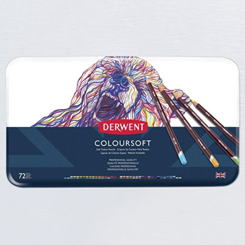 Derwent Coloursoft Tin Set of 72
