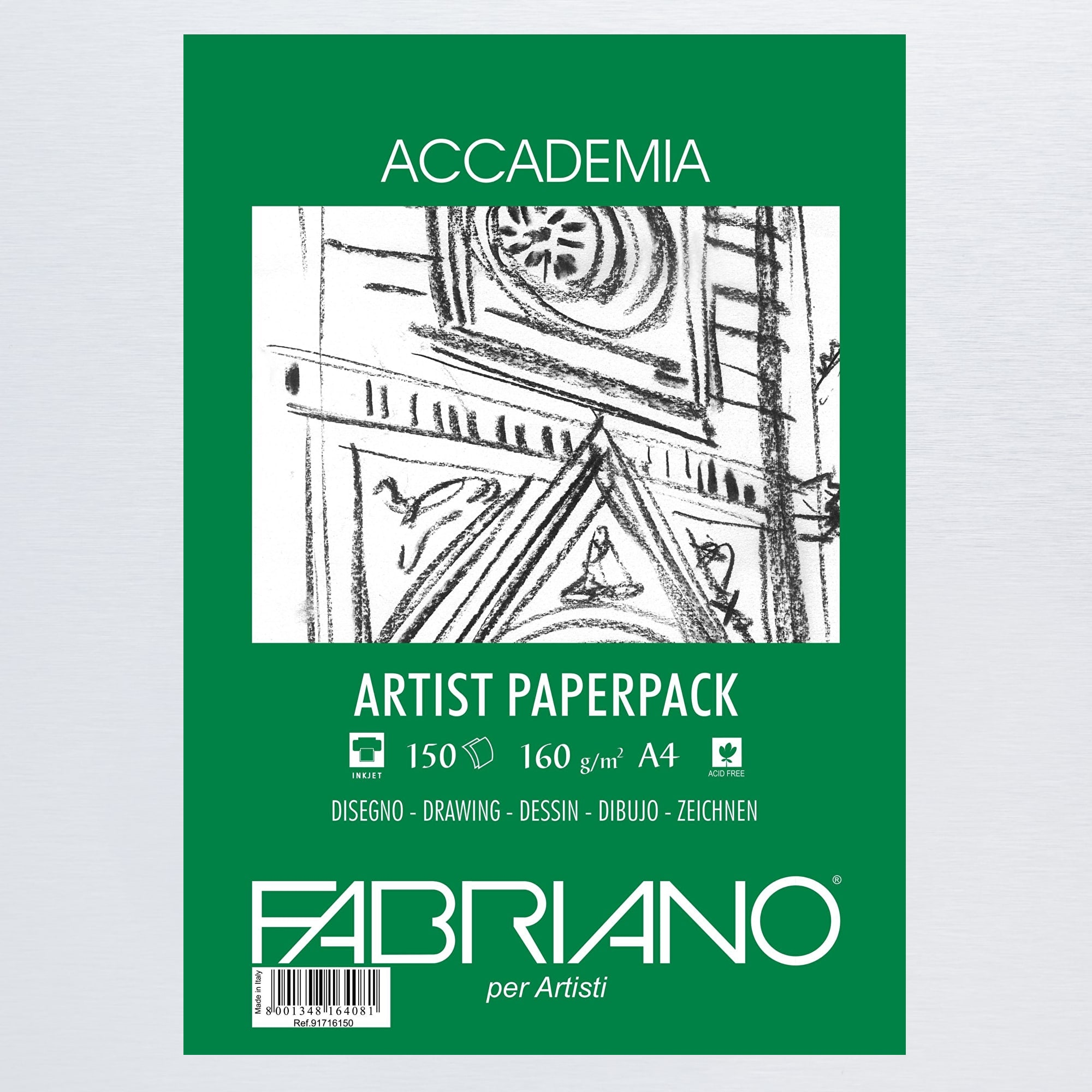 Fabriano accademia artist pack 160gsm 150 sheets a4 buy for Buy blueprint paper