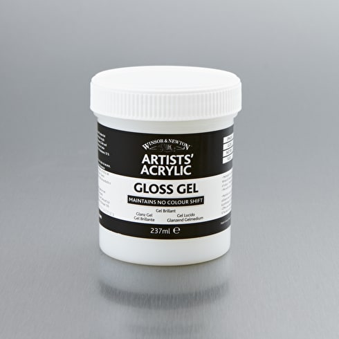 Winsor & Newton Artists' Acrylic Gloss Gel 237ml | Acrlyci Mediums | Cass Art