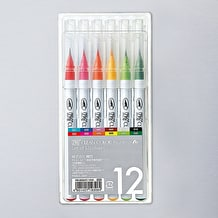Kuretake Zig Clean Colour Real Brush Set of 12