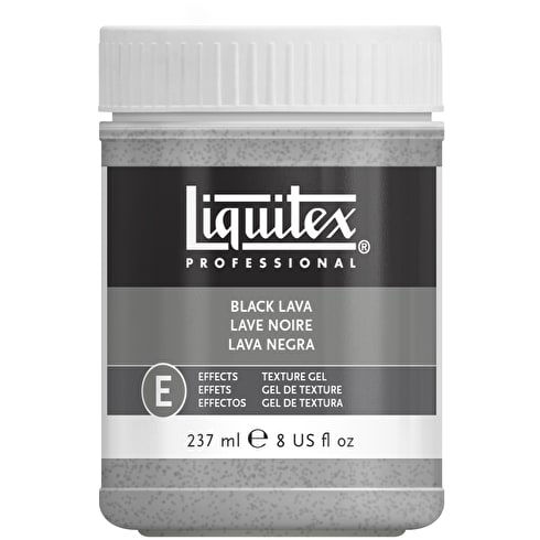 Liquitex Texture Gel Medium 237ml Black Lava