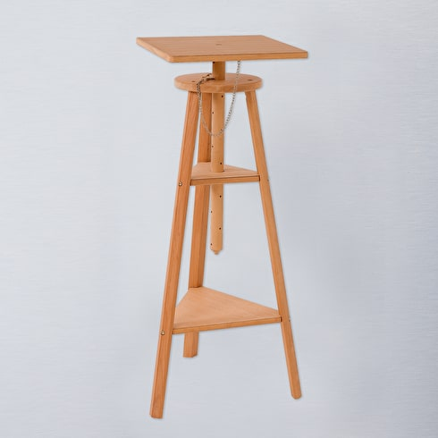 Jullian Oiled Beechwood Sculpture Stand